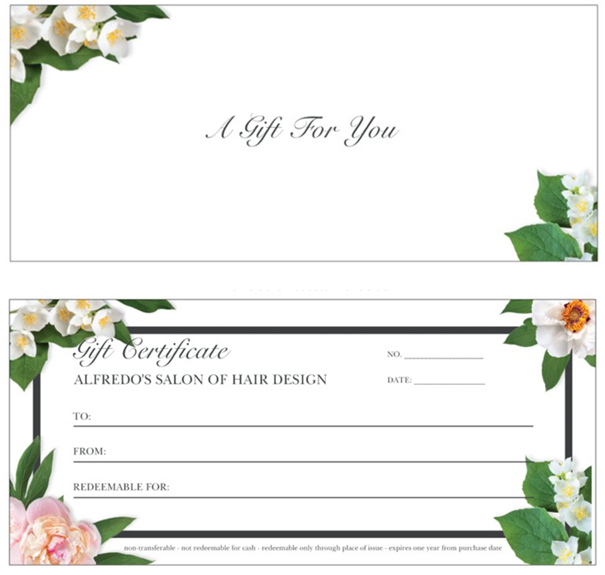 Spring Flowers Gift Certificate
